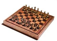 Chessmen на доске Стоковое Изображение