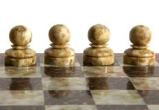 Chessmen. Isolated on the white background Royalty Free Stock Photography