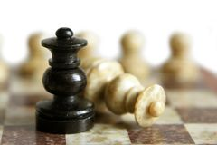 Chessmen. Isolated on the white background Royalty Free Stock Photos