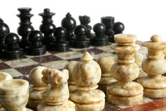 Chessmen. Isolated on the white background stock photo