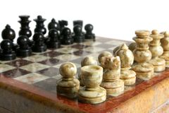 Chessmen. Isolated on the white background Stock Images