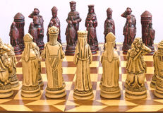 Chessmen 2. Chess pieces pictured against a white background Royalty Free Stock Photography