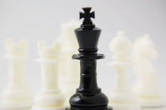 Chessmen. Close-up photography Royalty Free Stock Images