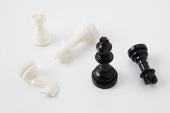 Chessmen. Close-up photography Stock Image