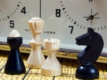 Chessmen Stockbild