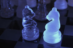 chessmen royaltyfria bilder