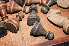 chessmen photographie stock