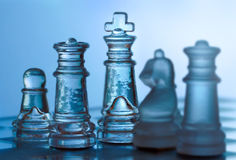 Chessmen. Game of Strategy royalty free stock photo