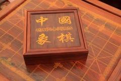 Chessmen av det kinesiska schackporslinet Royaltyfria Foton