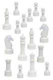 chessmen avslutar white Arkivfoton