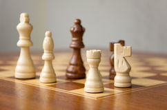 Chessmen on the Board Stock Photo
