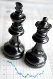 Chessmen charts Stock Image