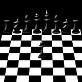Chessmen on chessboard Royalty Free Stock Image