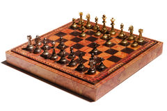 Chessmen on a chessboard Royalty Free Stock Images