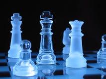 Chessmen di vetro Fotografia Stock Libera da Diritti