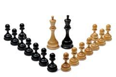 Chessmen, DOF supplémentaire. image stock
