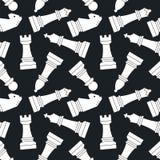 chessmen Nahtloses vektormuster Stockbild