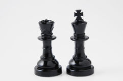 Chessmen noirs photographie stock libre de droits