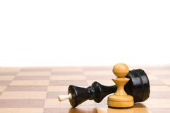 Chessmen On A Chessboard Stock Photography