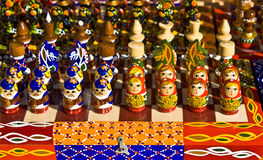 chessmen planlägger original Royaltyfri Fotografi