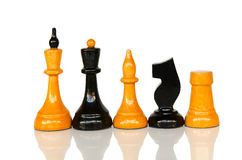 Chessmen in a row Stock Photo