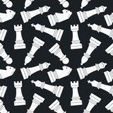 Chessmen. Seamless vector pattern. Stock Image