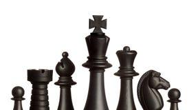 Chessmen som isoleras på vit Royaltyfria Bilder