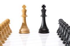 Chessmen som isoleras på vit Arkivbilder