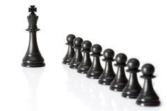 Chessmen som isoleras på vit Arkivfoto