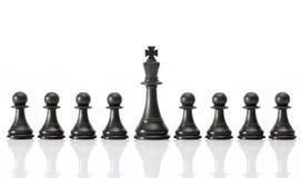Chessmen som isoleras på vit Royaltyfri Foto