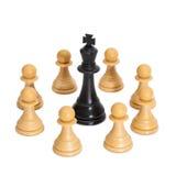 Chessmen som isoleras på vit. Royaltyfria Foton