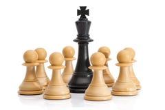 Chessmen som isoleras på vit Royaltyfri Bild