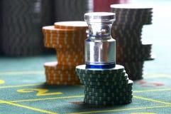 Chesspieces del casino Foto de archivo libre de regalías