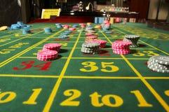 Chesspieces del casino Fotos de archivo libres de regalías