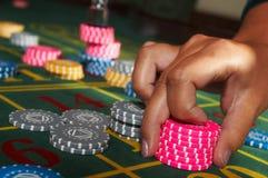 Chesspieces del casino Imagen de archivo