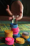 Chesspieces del casino Imagenes de archivo
