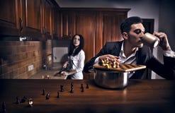 chessplayer概念性照片 免版税库存图片