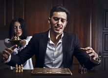 Chessplayer. Conceptual photo. Stock Photo