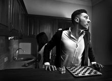 Chessplayer. Conceptual photo. Royalty Free Stock Photo