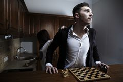 Chessplayer. Conceptual photo. Royalty Free Stock Photos