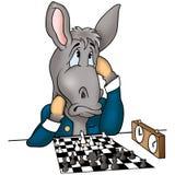 Chessplayer del burro stock de ilustración