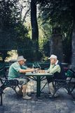 Chessplayers στο πάρκο Cismigiu στοκ φωτογραφία με δικαίωμα ελεύθερης χρήσης