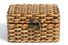 Chest 04. A woven bamboo chest Stock Image