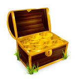 Chest. With treasure, computer illustration Stock Images