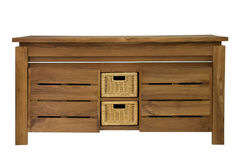 Chest. With drawers on a white background stock image