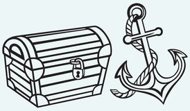 Chest and anchor Royalty Free Stock Images