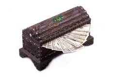 Chest box with Money Stock Images