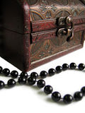 Chest box with pearls Stock Photo