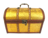 Chest case trunk golden Royalty Free Stock Photography