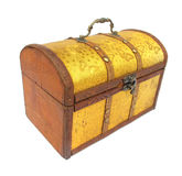 Chest case trunk golden Royalty Free Stock Image